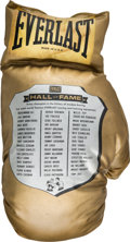 Boxing Collectibles:Memorabilia, 1990's Boxing Hall of Fame Oversized Everlast Glove. ...