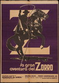 "Movie Posters:Adventure, The Great Adventure of Zorro & Other Lot (Cinevision, 1976).Mexican One Sheet (26"" X 37"") & One Sheet (27"" X 41"").Adventur... (Total: 2 Items)"