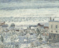 Fine Art - Painting, American:Antique  (Pre 1900), Frederick Carl Frieseke (American, 1874-1939). WinterMorning/Winter Sunrise, 1931. Oil on canvas. 25-3/4 x 31-3/4inche... (Total: 2 Items)