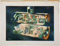 Explorers:Space Exploration, Saunders B. Kramer Original Spacecraft Designs Artwork (Two). ... (Total: 2 Items)