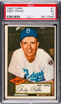 Baseball Cards:Singles (1950-1959), 1952 Topps Andy Pafko (Red Back) #1 PSA EX 5. ...