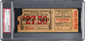 Boxing Collectibles:Memorabilia, 1926 Jack Dempsey vs. Gene Tunney Full Ticket, PSA Authentic....