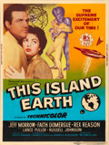 "Movie Posters:Science Fiction, This Island Earth (Universal International, 1955). Silk-ScreenPoster (30"" X 40"") Style Z.. ..."