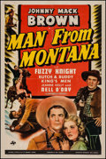 """Movie Posters:Western, Man from Montana (Universal, 1941). One Sheet (27"""" X 41"""").Western.. ..."""