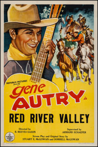 """Red River Valley (Republic, R-1940s). Stock One Sheet (27"""" X 41""""). Western"""