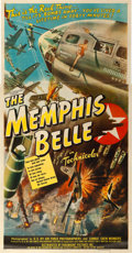 "Movie Posters:War, The Memphis Belle (Paramount, 1944). Three Sheet (41"" X 81"").. ..."