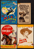 "Movie Posters:Western, Tom Mix Circus Programs Lot (1929-1937). Circus Programs (4) (Multiple Pages, 5.75"" X 9"" & 7"" X 10""). Western.. ... (Total: 4 Items)"