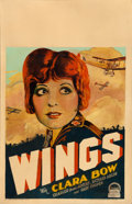"Movie Posters:Academy Award Winners, Wings (Paramount, 1927). Window Card (14"" X 22"").. ..."