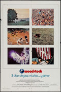"Movie Posters:Rock and Roll, Woodstock (Warner Brothers, 1970). One Sheet (27"" X 41"") Style A.Rock and Roll.. ..."