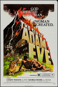 """The Sin of Adam and Eve & Other Lot (Dimension, 1972). One Sheets (2) (27"""" X 41""""). Drama. ... (Total: 2 It..."""