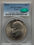 Eisenhower Dollars, 1976 $1 T2 MS66+ PCGS. CAC. PCGS Population: (492/11 and 19/0+). NGC Census: (354/3 and 0/0+). Mintage 113,318,000. ...