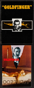 "Movie Posters:James Bond, Goldfinger (Program Publishing, 1965). Program & JapaneseProgram (Multiple Pages, 8.25"" X 11.75"" & 9"" X 12""). JamesBond.. ... (Total: 2 Items)"