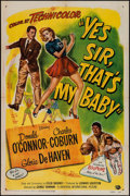 """Movie Posters:Comedy, Yes Sir, That's My Baby (Universal International, 1949). One Sheet(27"""" X 41""""). Comedy.. ..."""