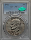 Eisenhower Dollars, 1978 $1 MS66+ PCGS. CAC. PCGS Population: (425/7 and 9/0+). NGC Census: (176/5 and 0/0+). Mintage 25,702,000. ...