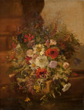 Fine Art - Painting, American:Antique  (Pre 1900), Adelheid Dietrich (German/American, 1827-1891). Flora StillLife, 1868. Oil on canvas. 16-1/2 x 12-1/2 inches (41.9 x 31...