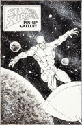 Original Comic Art:Splash Pages, Joe Brozowski (as Birch) Silver Surfer Annual #4 SilverSurfer Pin-Up Original Art (Marvel, 1991)....