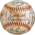 Baseball Collectibles:Balls, 1963 Chicago Cubs Team Signed Baseball with Ken Hubbs from The Ken Aspromonte Collection. ...