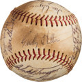 Baseball Collectibles:Balls, 1967 Houston Astros Team Signed Baseball with Nellie Fox & Don Wilson from The Ken Aspromonte Collection....