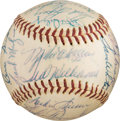 Autographs:Baseballs, 1958 Boston Red Sox Team Signed Baseball from The Ken AspromonteCollection....