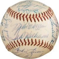 1958 Boston Red Sox Team Signed Baseball from The Ken Aspromonte Collection