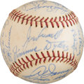 Baseball Collectibles:Balls, 1961 Cleveland Indians Team Signed Baseball with Frankie Frisch from The Ken Aspromonte Collection. ...