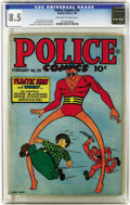 Golden Age (1938-1955):Superhero, Police Comics #39 (Quality, 1945) CGC VF+ 8.5 Off-white to white pages.
