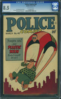 Golden Age (1938-1955):Superhero, Police Comics #40 (Quality, 1945) CGC VF+ 8.5 Off-white pages.