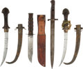 Miscellaneous Collectibles:General, Circa 1940 Antique Knives Lot of 4 from The Gary CarterCollection....