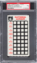 Baseball Cards:Singles (1960-1969), 1967 Topps Punch Out Roberto Clemente (Stadium Background) PSA NM7. ...