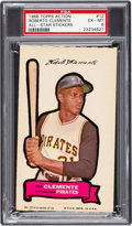 Baseball Cards:Singles (1960-1969), 1968 Topps Action Stickers Roberto Clemente #12 PSA EX-MT 6 - Pop One, None Higher! ...