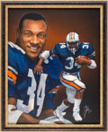 Football Collectibles:Others, 1985 Bo Jackson Heisman Trophy Winner Original Artwork by Ted Watts....