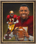 Football Collectibles:Others, 1993 Charlie Ward Heisman Trophy Winner Original Artwork by Ted Watts....