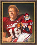 Football Collectibles:Others, 2003 Jason White Heisman Trophy Winner Original Artwork by Ted Watts....