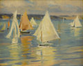 Fine Art - Painting, American:Modern  (1900 1949)  , MARY (LOUISE FAIRCHILD) MACMONNIES LOW (American 1866-1946). Dayfor Sailing, circa 1909-1946. Oil on panel. 8 x 10 inch...