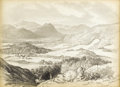 Fine Art - Painting, American:Antique  (Pre 1900), EDWARD SEAGER (American 1809-1886). Sandwich Hills, NewHampshire. Pencil on paper. 9 x 12 inches (22.9 x 30.5 cm).Insc...