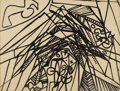 Fine Art - Painting, European, STANLEY WILLIAM HAYTER (British 1901-1988). Bird Kissing theCollapse of the Edifice. Ink on paper. 13-1/4 x 17-1/2 inch...