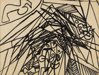 STANLEY WILLIAM HAYTER (British 1901-1988) Bird Kissing the Collapse of the Edifice Ink on paper