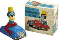 Toys:Miscellaneous, Huckleberry Hound Huckleberry Friction Car Tin Toy with Box (Louis Marx Co. Inc., 1962)....