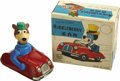 Toys:Miscellaneous, Yogi Bear Friction Car Tin Toy with Box (Louis Marx & Co. Inc, 1962)....