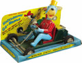 Toys:Miscellaneous, Huckleberry Hound Huckleberry Go-Mobile Friction Toy in Package (Linemar Co. Inc, 1960s)....