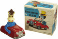 Toys:Miscellaneous, Quick Draw McGraw Huckleberry Friction Car Tin Toy with Box (Louis Marx Co. Inc., 1962)....