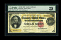 Large Size:Gold Certificates, Fr. 1212 $100 1882 Gold Certificate PMG Very Fine 25....
