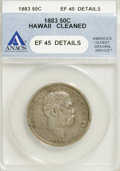 Coins of Hawaii: , 1883 50C Hawaii Half Dollar--Cleaned--ANACS. XF45 Details. NGCCensus: (26/213). PCGS Population (37/322). Mintage: 700,000...