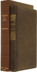Books:Non-fiction, A.B. Lawrence [introduction]: Texas in 1840, or the Emigrant's Guide to the New Republic;...