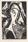 Texas:Early Texas Art - Regionalists, HAZEL MCGRAW (1897-dec.). Thro' a Nightmare. Block print onpaper. 6 x 4 inches (15.2 x 10.2 cm). Signed lower right. Ti...