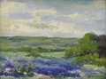 Texas:Early Texas Art - Impressionists, CLARA PANCOAST (1872-1959). Bluebonnets. Oil on canvasboard.12 x 16 inches (30.5 x 40.6 cm). Signed lower right. ...