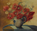 Texas:Early Texas Art - Impressionists, MARY MOTZ WILLS (1875-1961). Untitled Floral Still Life. Oil oncanvas. 19-1/2 x 23 inches (49.5 x 58.4 cm). Signed lower le...