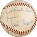 Baseball Collectibles:Balls, 1950's President Richard Nixon & Rocky Marciano Signed Baseball from The Ken Aspromonte Collection. ...