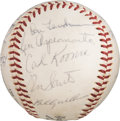 Baseball Collectibles:Balls, 1963 Chicago Cubs Team Signed Baseball with Ken Hubbs from The Ken Aspromonte Collection. . ...