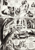 Original Comic Art:Panel Pages, Russ Manning Tarzan in Savage Pellucidar Story Page 10Original Art (1975)....